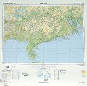 SHEET NF 49 - KUANG-CHOU (tỉnh Quảng Châu TQ và một góc nhỏ tỉnh Quảng Ninh của Bắc VN) 1975