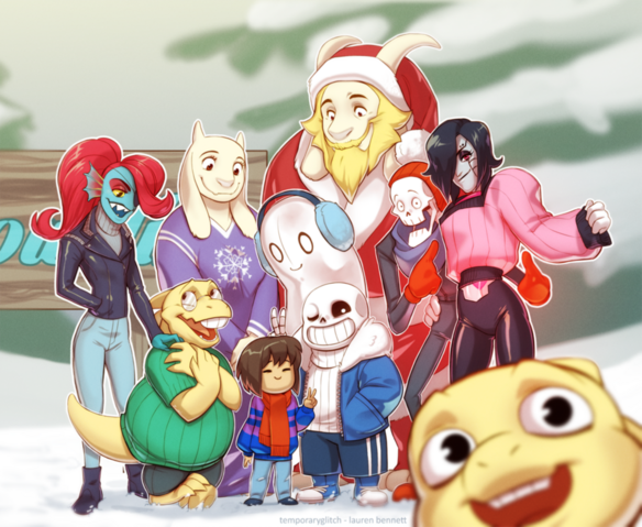 File:Undertale chrimmas by lauren bennett-d9hxzg2.png