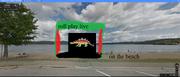 Roll play live on beach