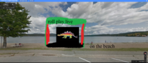 Roll play live on beach