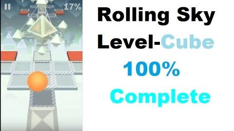 Rolling Sky Level 17-Cube (Completed All Gems)-Iphone Gameplay
