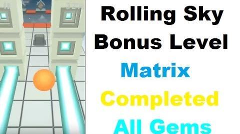Rolling Sky Bonus Level- Matrix ( Iphone Gameplay)