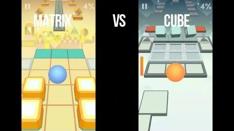 Rolling Sky Matrix VS Cube (First Time Ever)