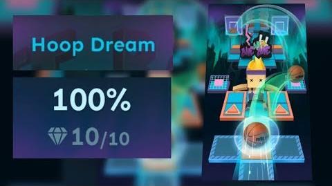 Rolling Sky Bonus lv.10 Hoop Dream 100% Clear - All Gems SHA