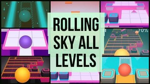Rolling sky all levels 100% complete 🚦 Updated With Joker and Reggae
