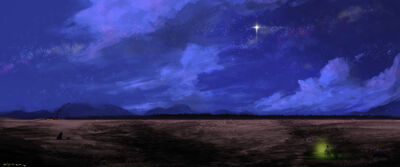 Central plains at night by putridcheese