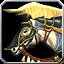 Weißes Streitross Icon