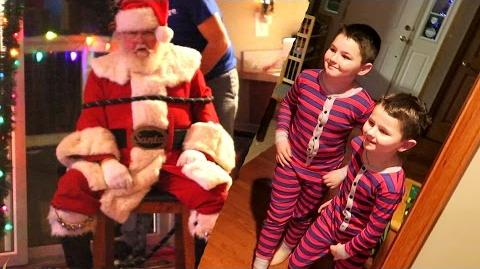 CAPTURING SANTA PRANK!!