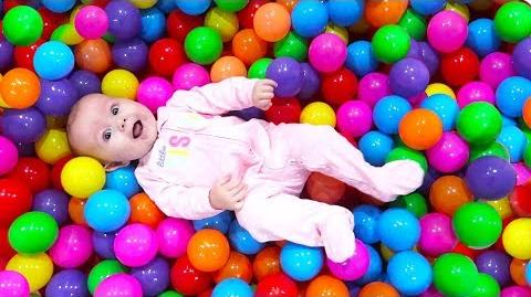 HER FIRST BALL PIT!!