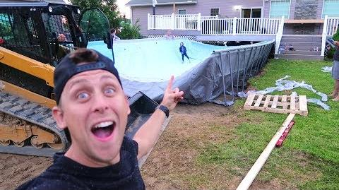 BUILDING HUGE FOAM PIT POOL!!