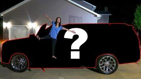 HER BRAND NEW CAR!!