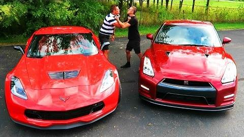 GTR vs Z06 DRAG RACE BATTLE!!