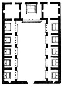 Santa Maria della Concezione dei Padri Cappuccini floor plan