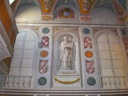 2011 Ambrogio, sacristy wall right of altar