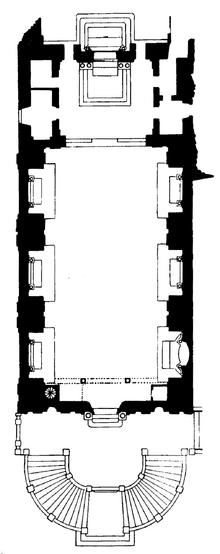 Santi Domenico e Sisto floor plan
