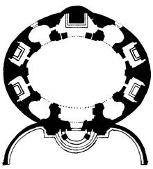 Sant'Andrea al Quirinale floor plan