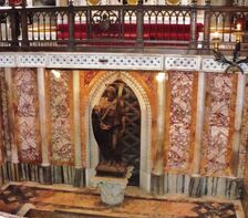 Image of St. John the Baptist in the Confessio of St John Lateran - Oct. 2008 1