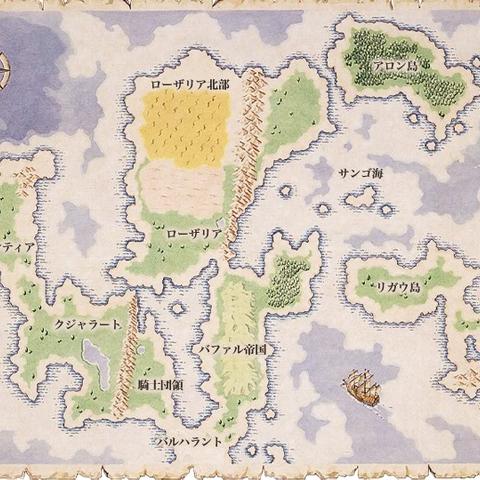 Map of Mardias as it appears in Romancing SaGa.