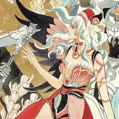 Tomomi Kobayashi's artwork of File:Rocbouquet for the Re:Birth II Romancing SaGa Battle Arrange album.