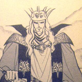 Emperor Leon as depicted in the Romancing SaGa 2 manga.