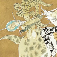 Tomomi Kobayashi's artwork of Subier for the Re:Birth II Romancing SaGa Battle Arrange album