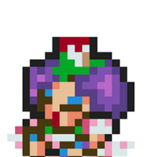 Coppelia`s magic casting sprite normally never seen in the game.