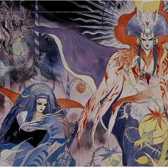 Schirach alongside Saruin, Death and a Saruin Minion.