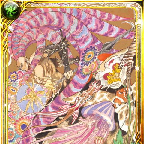 Tomomi Kobayashi's card art for Subier in Emperors SaGa