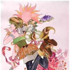 Ginny Flower Panel illustration by Tomomi Kobayashi
