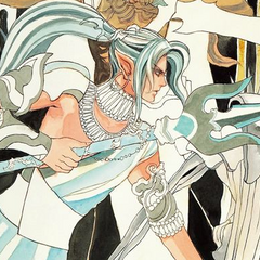 Tomomi Kobayashi's artwork of Forneus for the Re:Birth II Romancing SaGa Battle Arrange album