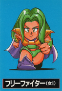 Free Fighter Female Front (RS2 Famicom Card)