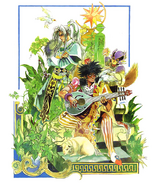 SaGa Frontier Blue Lute and Riki