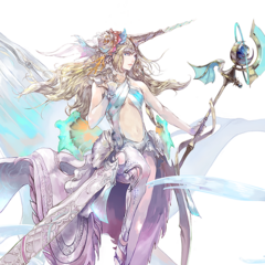 Concept art of The Narwhal's daughter created for <i>SaGa THE STAGE: Shichi Eiyū no Kikan</i>