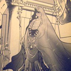 Oaive presenting herself before Emperor Leon in the Romancing SaGa 2 manga