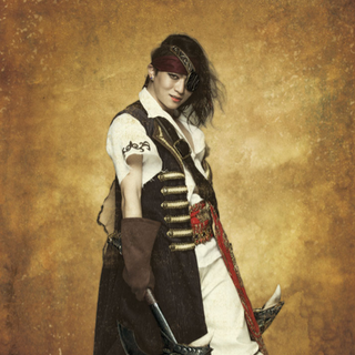 Black (played by Yoshinobu Hirayama) in <i>Romancing SaGa the Stage: The Day Roanne Burned</i>