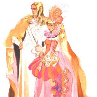 Artwork of Monica and Michael.