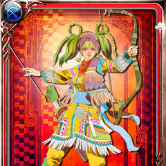 Card art of Fatima from Emperors SaGa