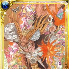 Tomomi Kobayashi's card art for Dantarg in Emperors SaGa