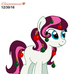 Meet Ornament she is an OC character that was made for me uh..I haven`t made up a story or background for her yet.