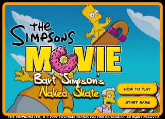 The Simpsons Movie Bart Simpson S Naked Skate Romangames Wiki Fandom
