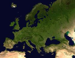 Europe satellite orthographic