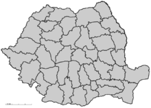 Romania-districts map