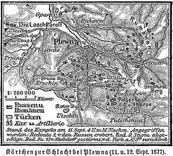 Kärtchen zur Schlacht bei Plewna (11. & 12.09.1877)