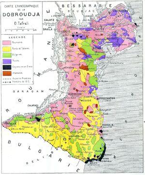 Dobroudja (carte ethnographique)