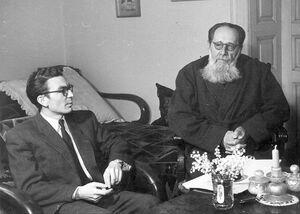 Mircea Zaciu si Ion Agarbiceanu