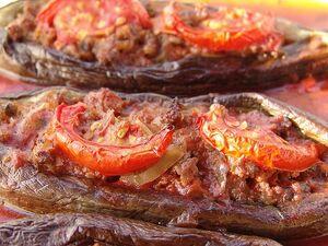 Eggplant stuffed meat