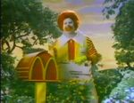 Ronald McDonald delivering mail