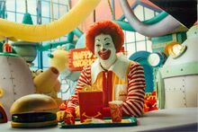 Ronald with a Happy Meal 1