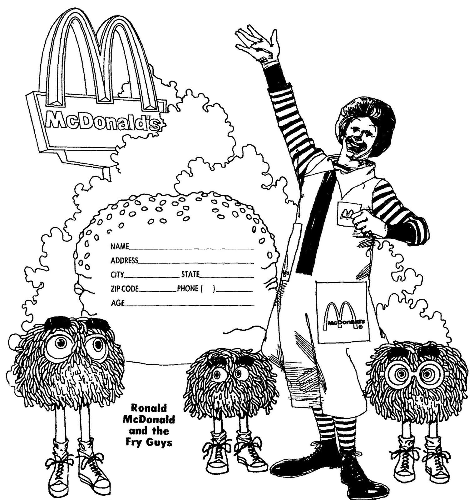 Image Ronald McDonald coloring paperjpg McDonalds Wiki