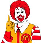 Ronald McDonald handdrawing 3
